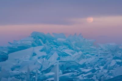 Закатное мгновение Россия Байкал