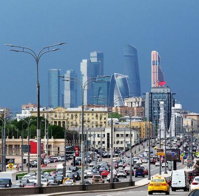 Перед дождем Город Москва сити дождь