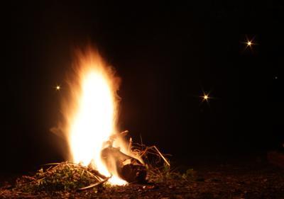2700 огонь костер ночь