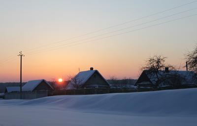 Морозный вечер. мороз вечер