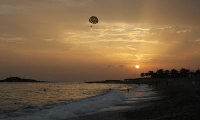 Вечерний полёт... Турция Средиземное море закат полёт