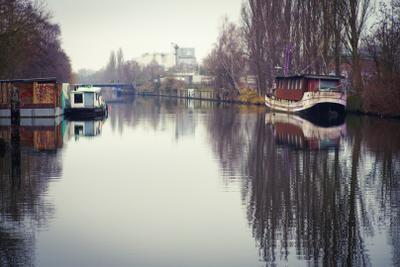 Вид на Vering Kanal,  Wilhelmsburg, Гамбург Гамбург