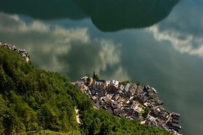 Городок город гальштат хальштатт Hallstatt вид австрия путешествие вода