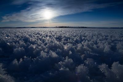 Морозно... озеро