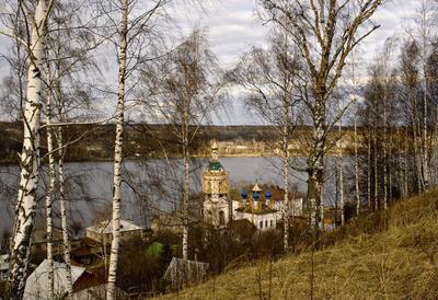 Ранняя весна Плес, Волга, ветер