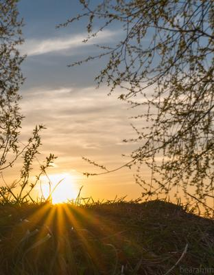 ***закат*** закат природа солнце лучи