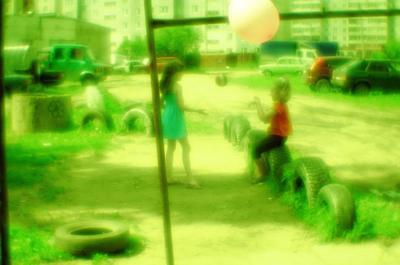 моноигра детство игра мяч монокль зелёное