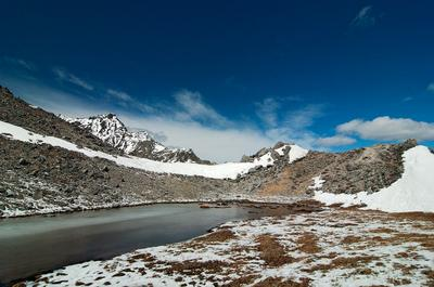 Озеро на перевале Саяны Хубуты