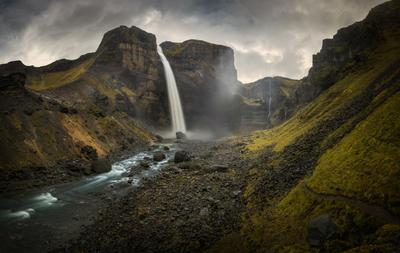 Haifoss Haifoss Исландия водопад