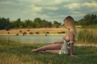 *Лето* девушка модель ню