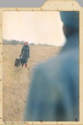 возвращение девушка,шинель,поле,осень,солдат,чемодан,прощание,возвращение,война