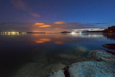 Ночь на озере Таватуй таватуй средний урал ночь