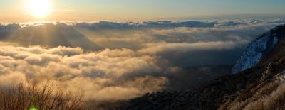 Зимний восход солнца на Ай-Петри