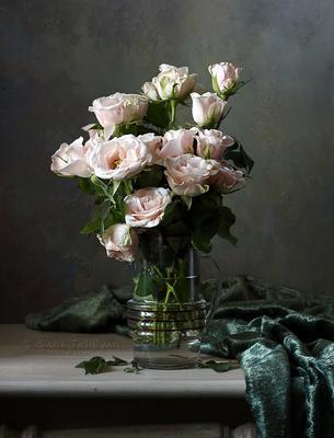 Чайные розы розы букет