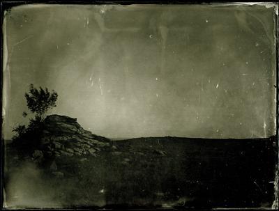 Звездопад на Анхобае амбротип мокрый коллодий большой формат пейзаж