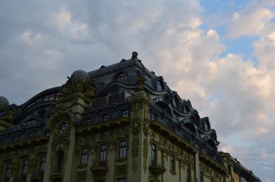 *** Одесса Небо Архитектура Дом Вечер
