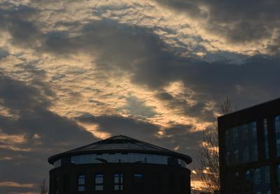 Невероятный закат закат небо парк курская солнце