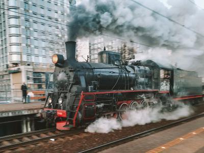 Поезд Поезд железнаядорога старый станция