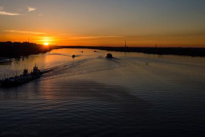 Закат на Волге! Река Волга Закат вечер