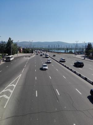 Вид на коммунальный мост Красноярск