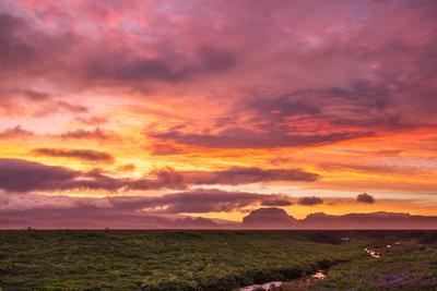 ***Огненный закат Исландия Закат