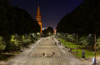 вечерняя улица Канта