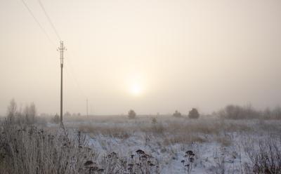 Зимние сны зима туман солнце