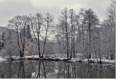 Одноцветный, поблекший мир..... зима Кавказ Кабардино-Балкария пасмурно природа красота пейзаж