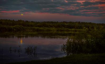 ***Вечер на реке Унжа в районе г. Макарьева