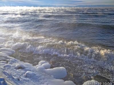 Зимний прибой Байкал