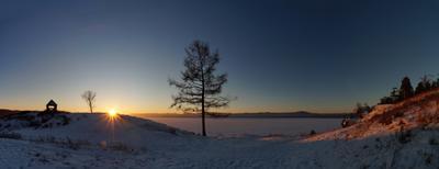 Закатные лучики. Урал озеро закат