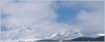В облаках Кыргызстан горы