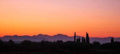 Восход солнца на Пелопоннесе восход солнце горы