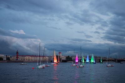 *** Санкт-Петербург Балтийская яхтенная неделя лето река Нева парусник