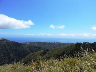 По горным тропам Калифорнии Горы небо облака океан