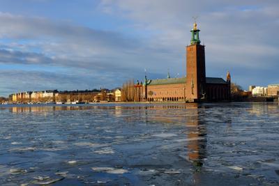 Стокгольмская ратуша стокгольм швеция ратуша зима море солнце