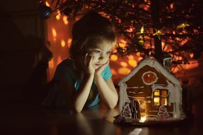 Мечты девочка домик пряничный новый год