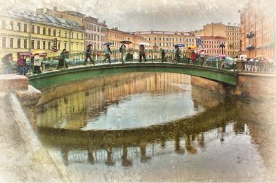 Тёплый дождь Санкт-Петербург город
