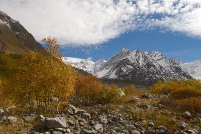 Осень в Чегеме Чегемское ущелье Кабардино-Балкария