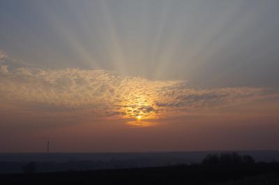 ***Солнце в золоте восход Солнце заря утро свет облако лучи небо