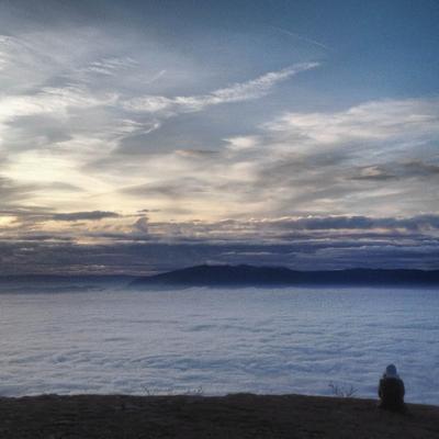 В городе - облачно женева, облака, горы
