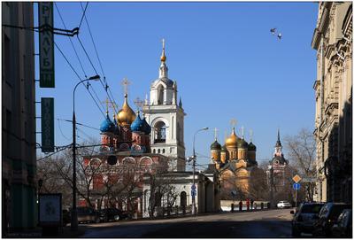 Варварка Москва, Варварка, небо, птички