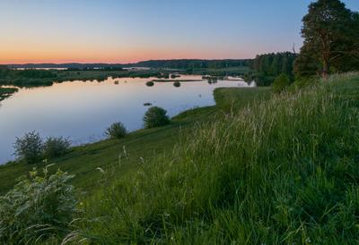 Рассвет на Савкиной горке рассвет пейзаж михайловское