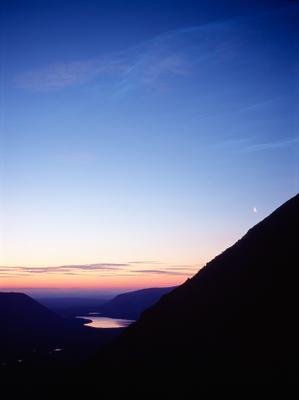 Ночные облака Хибины, месяц, ночь, серебристые облака