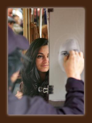 двойной портрет Монмартр девушка художник