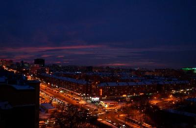 Ночь ночь город Тюмень улица огни