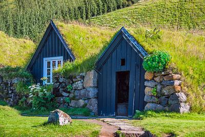 Изба исландия путешествие пейзаж природа архитектура деревня изба