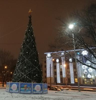 С Наступающим Новым Годом 2021 Санкт-Петербург декабрь украшения ёлка зима