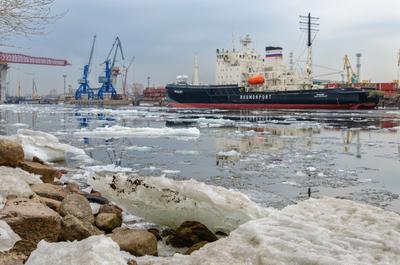 Морской порт Петербурга. Время ледохода. петербург весна март порт морской ледоход