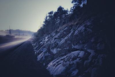 Туманы на Журавлиной реке (1) туманы карелия река ночь